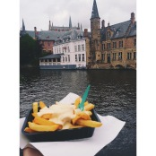 Quintessential Belgian fries, Bruges, Belgium. Photo by Rocio Guenther.