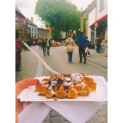 Belgian Waffle in Bruges. Photo by Rocio Guenther.