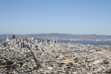 Panoramic shot of the city of San Francisco from above Twin Peaks. Photo by Rocio Guenther